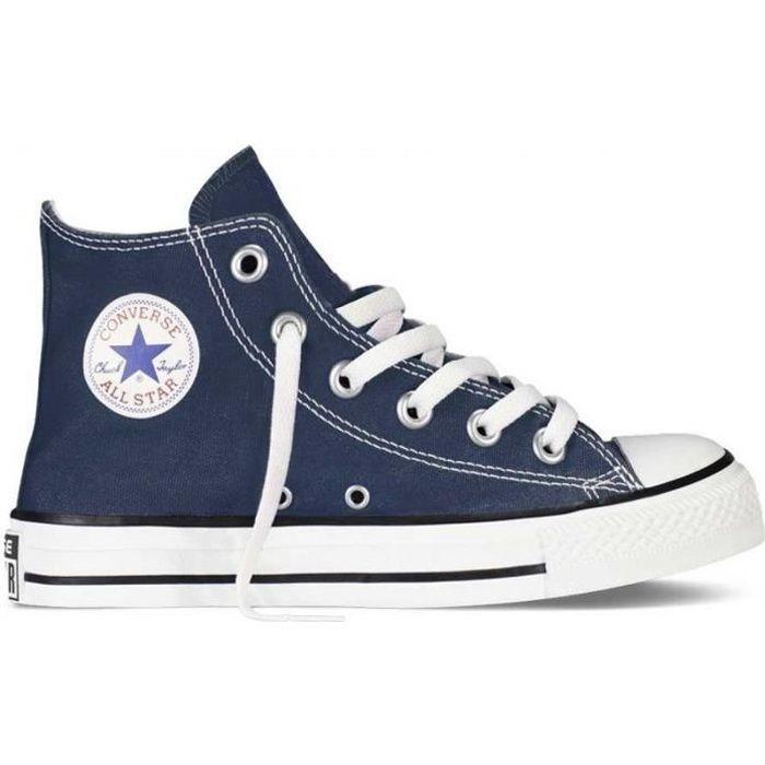 chaussures femme converse haute bleu marine
