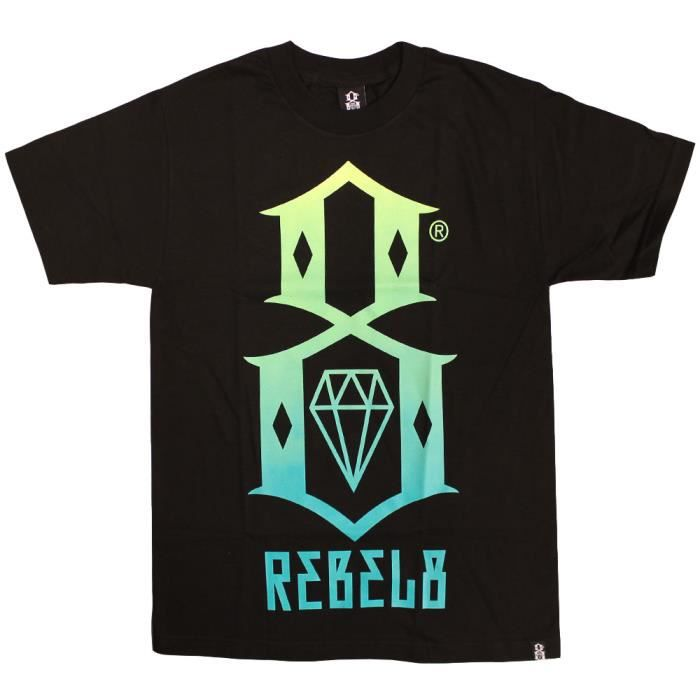 Rebel 8 Gradient Logo T-shirt blanc vert