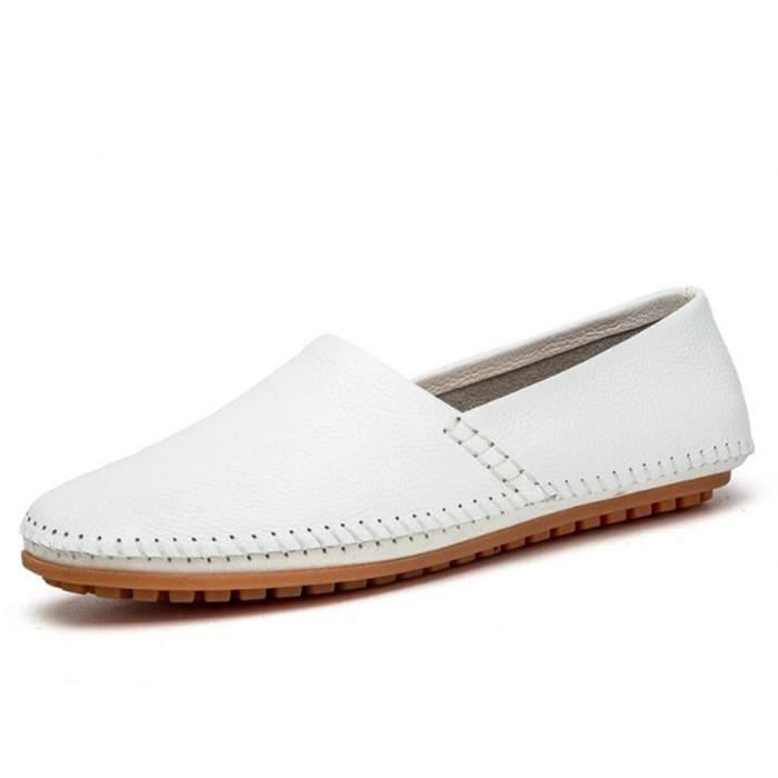 chaussures homme En Cuir Moccasin Marque De Luxe Moccasin hommes Grande Taille Loafer En Cuir Nouvelle Mode ete Chaussures Loafer