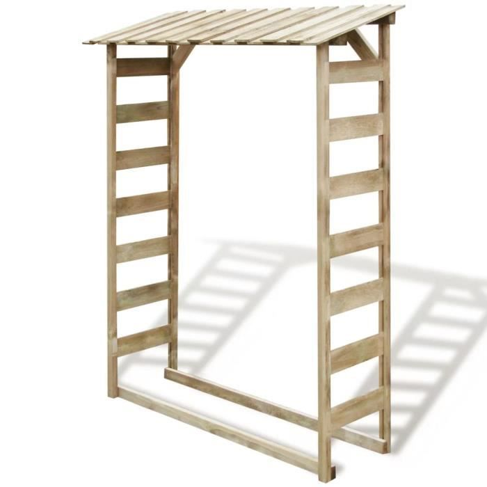 ABRI JARDIN - CHALET Abri de stockage du bois de chauffage 150x44x176 c
