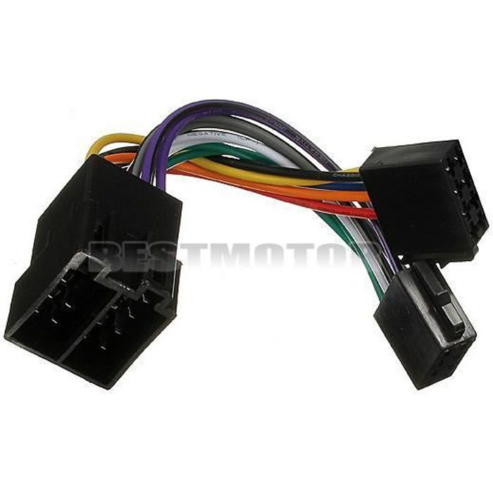 c ble adaptateur autoradio iso st r o pour peugeot 106 206 306 307 405 406 607 prix pas cher. Black Bedroom Furniture Sets. Home Design Ideas