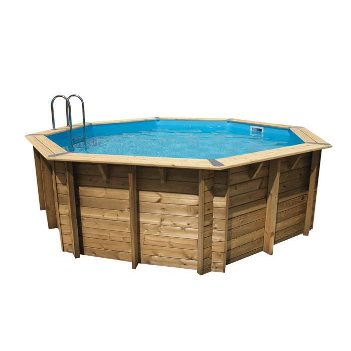 Piscine hors sol bois fsc octogonale ocea 510 h120cm for Destockage piscine bois