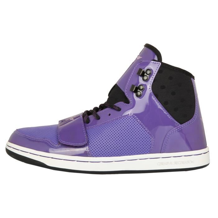 Creative Recreation Femmes Sneakers W CESARIO Black/Purple WCR432-BLKPU [38.5]