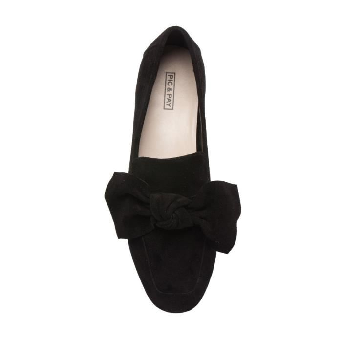 Eden - Bow Noeud Adorned Mocassins - Suede cuir confortable Slip-on chaussures plates (nouvelle automne) EDB72 Taille-37 1-2