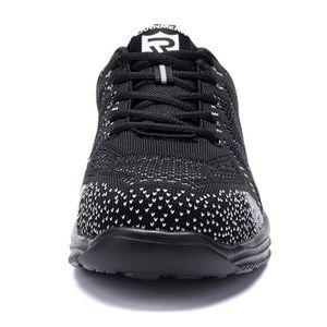 Knit L/éger Embout en Acier R/éfl/échissant Anti Ponction LM121-39 EU Noir LARNMERN Chaussure de Securit/é pour Femme