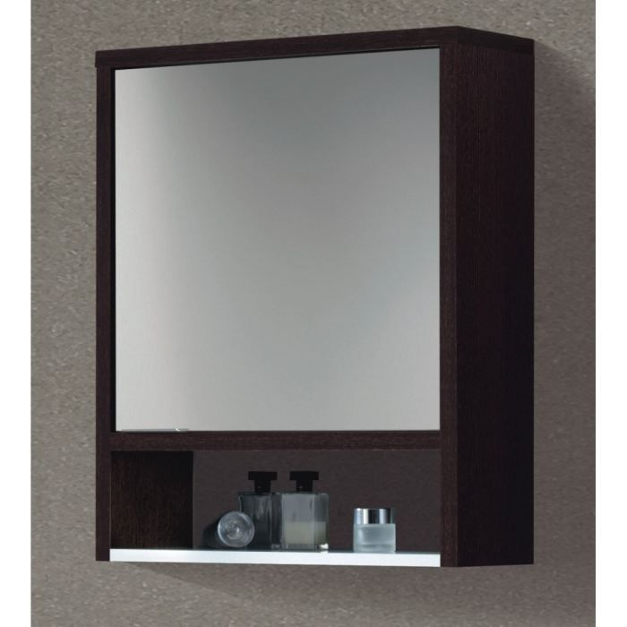 daphne armoire miroir weng et blanc achat vente. Black Bedroom Furniture Sets. Home Design Ideas