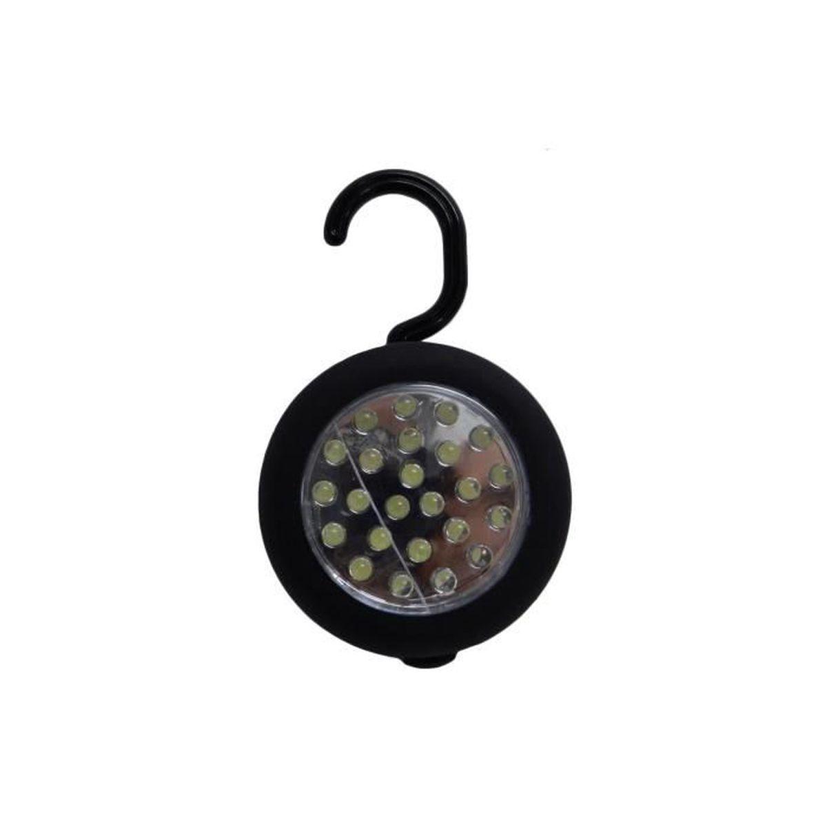 DEL Lampe travail 24 DEL avec crochet pratique et support magnétique