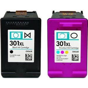 CARTOUCHE IMPRIMANTE Pack 2 cartouches compatible HP 301 XL noir et cou
