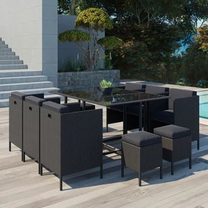 Ensemble table et chaise de jardin Le Chupa : salon de jardin encastrable 10 places e