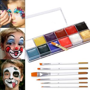 USTENSILES DECORATION  Maquillage Halloween 12 couleurs + pinceau de maqu
