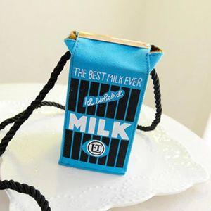 TOUT EN UN Sac Cartoon stéréo Mignon Sacs Mini Milk Box Femme