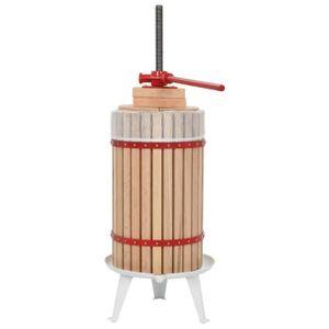 PRESSE-FRUIT - LEGUME MANUEL Presse-fruits et à vin avec sac en tissu 30 L Bois