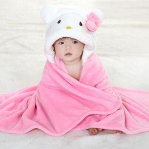 SERVIETTES DE BAIN Serviette de bain À capuche drap de bain bébé Mign