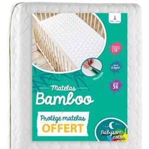 MATELAS BÉBÉ Babysom - Matelas Bébé Bamboo + 1 Protège matelas