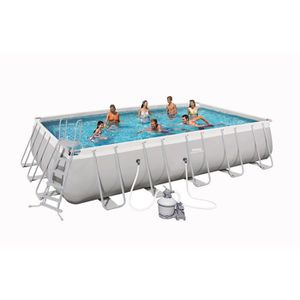 PISCINE BESTWAY Kit piscine rectangulaire Power Steel Fram