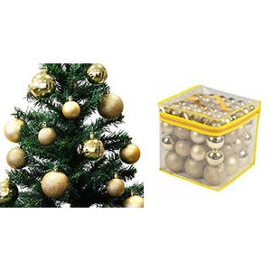 40 Pack Or Rose Tambour Cuivre Noël Luxe Baubles-Arbre de Noel DECOR