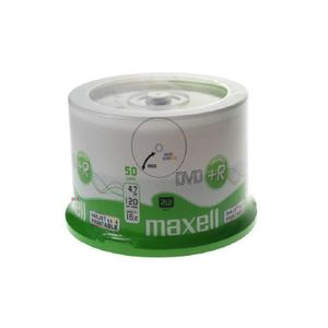 CD - DVD VIERGE 50 DVD+R Maxell Imprimable