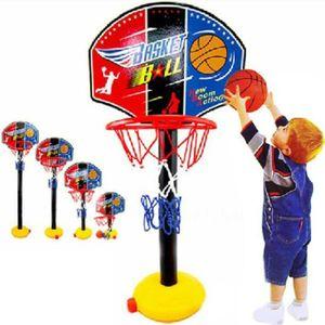 Jeu de Sport r/églable int/érieur et ext/érieur avec Filet et Ballon pour Enfants Trois Ans et Plus GAYISIC Ensemble de Basketball Portable et Ajustable