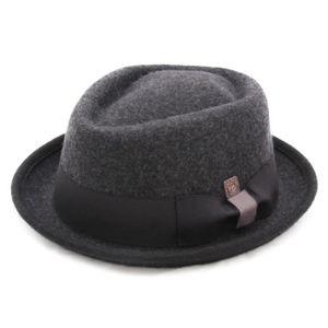 Stetson Homburger furfelt Fedora de poils Chapeau Chapeaux Feutre 35 gris tendance NEUF