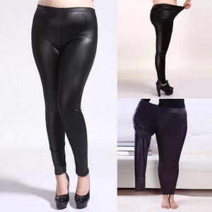 PANTALON Femmes Printemps Automne Imitation Pantalon en cui