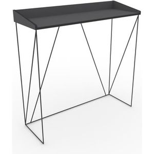 meuble console en metal noir achat vente meuble console en metal noir pas cher cdiscount. Black Bedroom Furniture Sets. Home Design Ideas