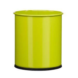 POUBELLE - CORBEILLE Poubelle à papier métal - 15 l - Vert anis - PAPEA