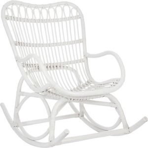 rocking chair blanc achat vente rocking chair blanc pas cher cdiscount. Black Bedroom Furniture Sets. Home Design Ideas