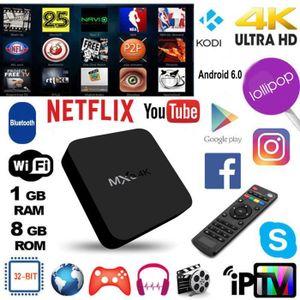 RÉCEPTEUR - DÉCODEUR   VODOOL® Décodeur multimédia Smart TV Box MXQ 4K, O