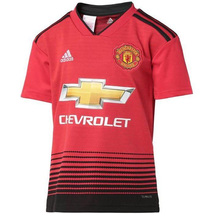 ADIDAS Maillot de football Manchester United FC Dom Jr 18 - Enfant garçon - Rouge