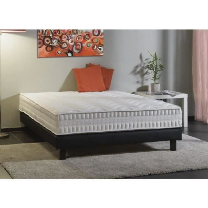 rubis ensemble matelas sommier 160x200 cm ressorts equilibr 698 ressorts 2 personnes. Black Bedroom Furniture Sets. Home Design Ideas