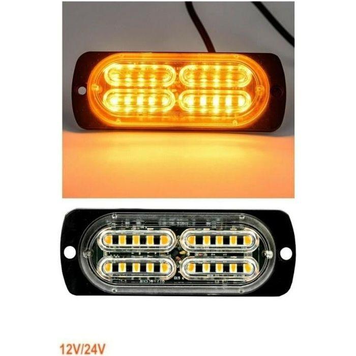 20 LED Feu De Gabarit Lumiere Stroboscopique Clignotant 12-24V Auto Camion 10W