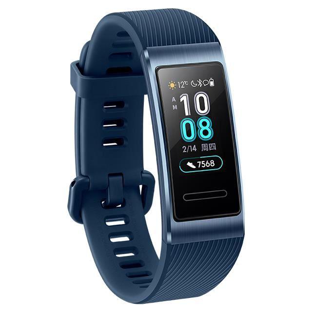 Huawei Band 3 Pro GPS bande intelligente en métal Amoled 0.95 'écran tactile couleur nage course capteur de fréquence cardiaque Brac