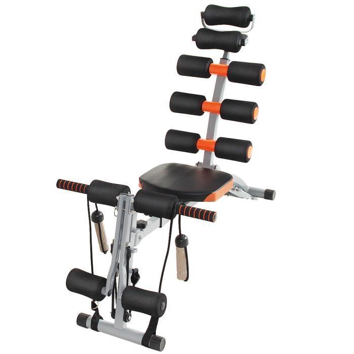 HEk Banc de Musculation Banc Abdominal Pliable Multifonctionnel Muscle en forme de l'équipement ménager Sit Up Benc Trainer Orange/n