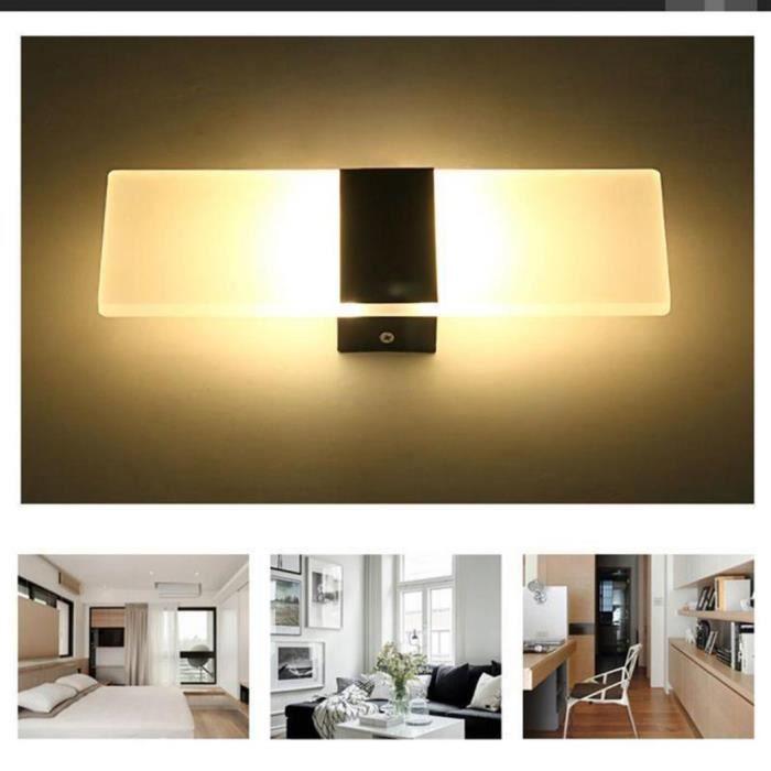 Moderne LED Mur Éclairage Up Down Cube Chambre Applique Lampe Luminaire Blanc Blanc 290 * 110 * 10mm Rectangulaire