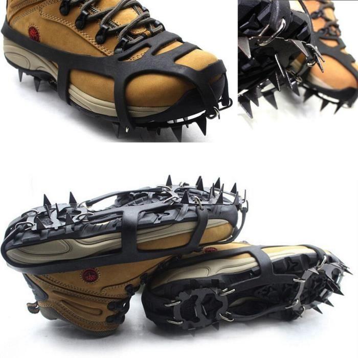yida-world® Paire Crampons Chaîne Anti-dérapante Hiver Neige Glace Prairie Pr Chaussure Botte Taille M 35-40EU