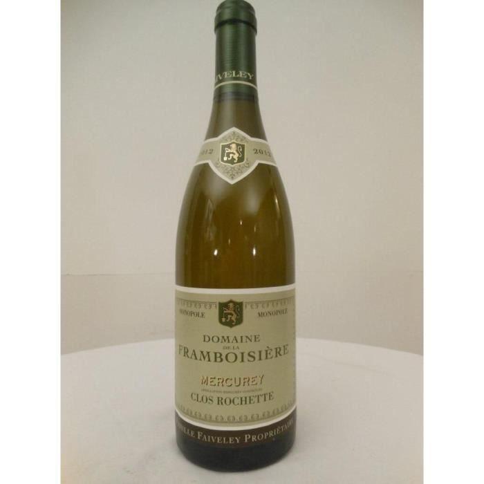 mercurey faiveley clos rochette - la framboisière blanc 2012 - bourgogne france