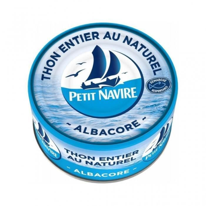Petit Navire Thon Entier Au Naturel Albacore 140g (lot de 5)