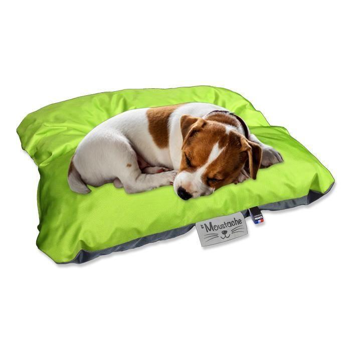 Petit coussin pour chien extérieur Gris / Anis réversible 60x45cm