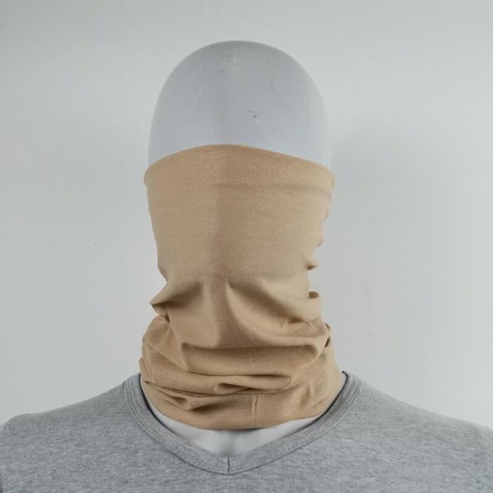 044 Taille unique -Foulards de Camouflage militaires 100% Polyester, coupe vent, masque facial, pour le Camping en plein air, randon