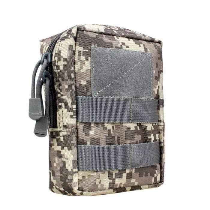 ACU -Sac de ceinture militaire tactique 1000D, multifonctionnel, pour l'extérieur, outil EDC Molle, fermeture éclair, accessoire,