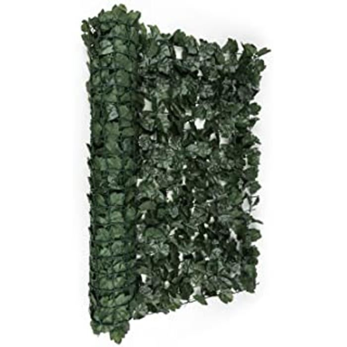 Qc905 Fency Dark Ivy - Clôture Brise-Vue En Imitation Lierre De 300X100 Cm Pour Balcon, Terrasse, Jardin - Vert Foncé