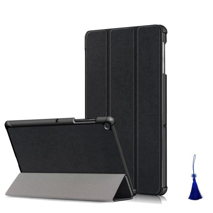 Pour Samsung Galaxy Tab S4 Housse PU Cuir Étui de Protection avec auto réveiller-dormir, Noir