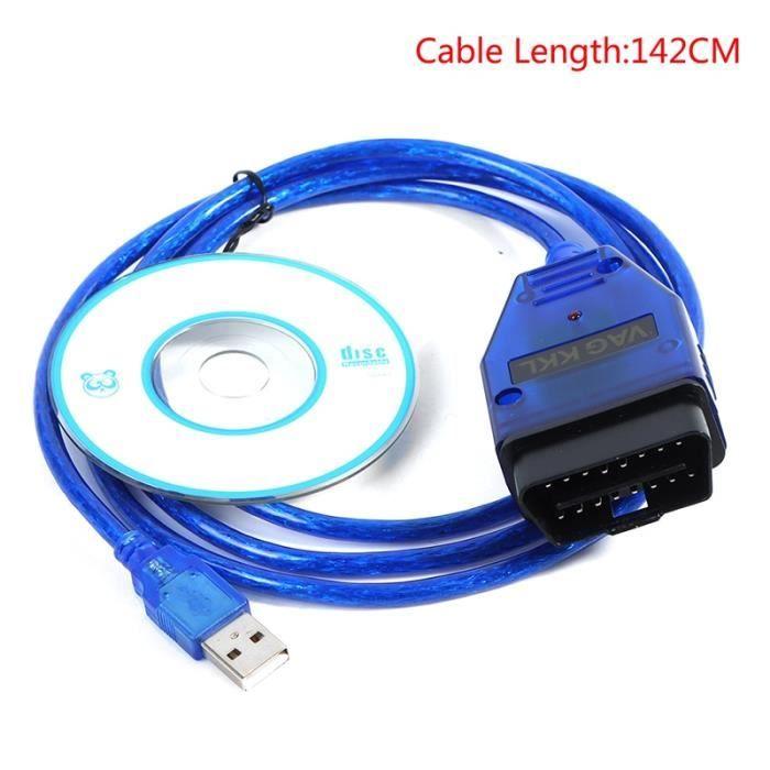 VAG-COM 409 COM VAG 409.1 KKL Câble Câble Diagnostic Scanner Interface Câble Diagnostic Scanner d'interface d
