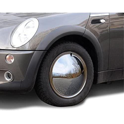 Lot de 2 enjoliveurs universels 15- - Moon Caps pour voitures anciennes - En métal chromé