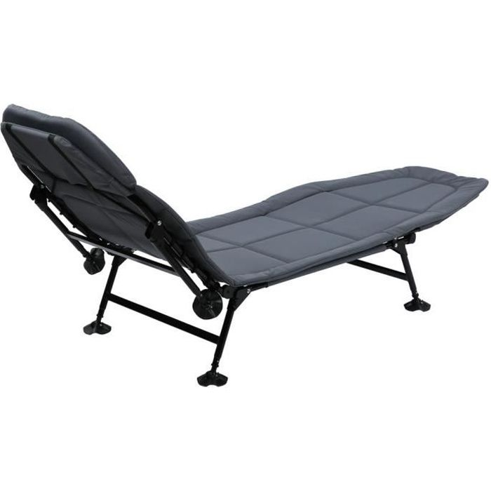 Cikonielf Bedchair Dossier de lit pliant extérieur Chaise longue réglable Fauteuil inclinable imperméable