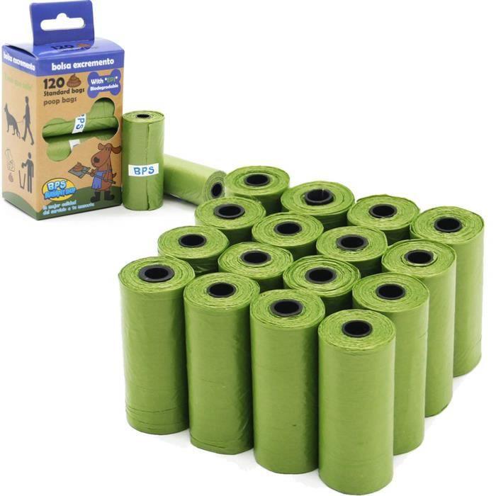 BPS 240 Sacs de Caca biodégradables pour Chien, Sacs pour excréments d'animaux de Compagnie (240 Sacs sans Distributeur) BPS-5397