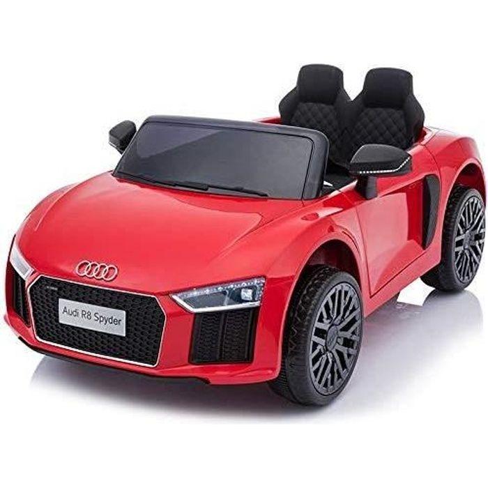 Voiture électrique Audi R8 Small, rouge, sous licence d'origine, alimenté par batterie, portes ouvrantes, moteur 2x 35 W
