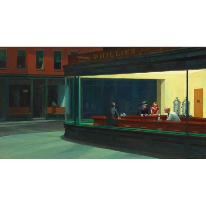Poster Affiche Nighthawks Edward Hopper Peinture Realisme Amerique 61cm x 112cm