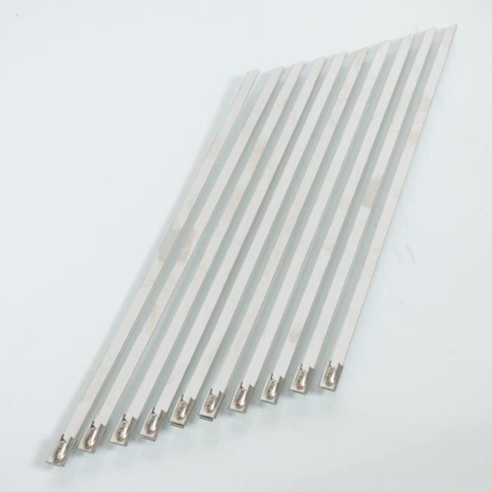 10 Collier de serrage à bille 4.6x200mm pour bande thermique de pot échappement