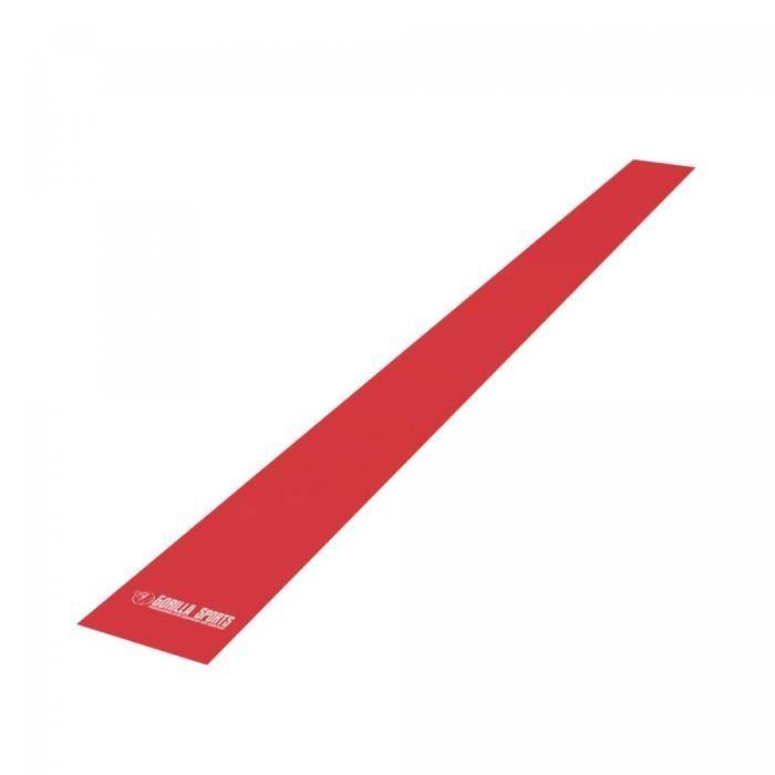 Bandes de fitness - Longueur 200 cm - Epaisseur 0.55 cm - Rouge